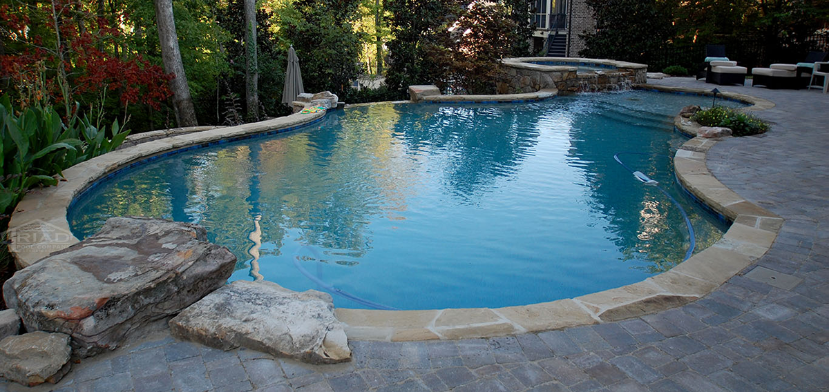 Triad Poolscapes Of Knoxville Custom Luxurious Swimming Pool Builders