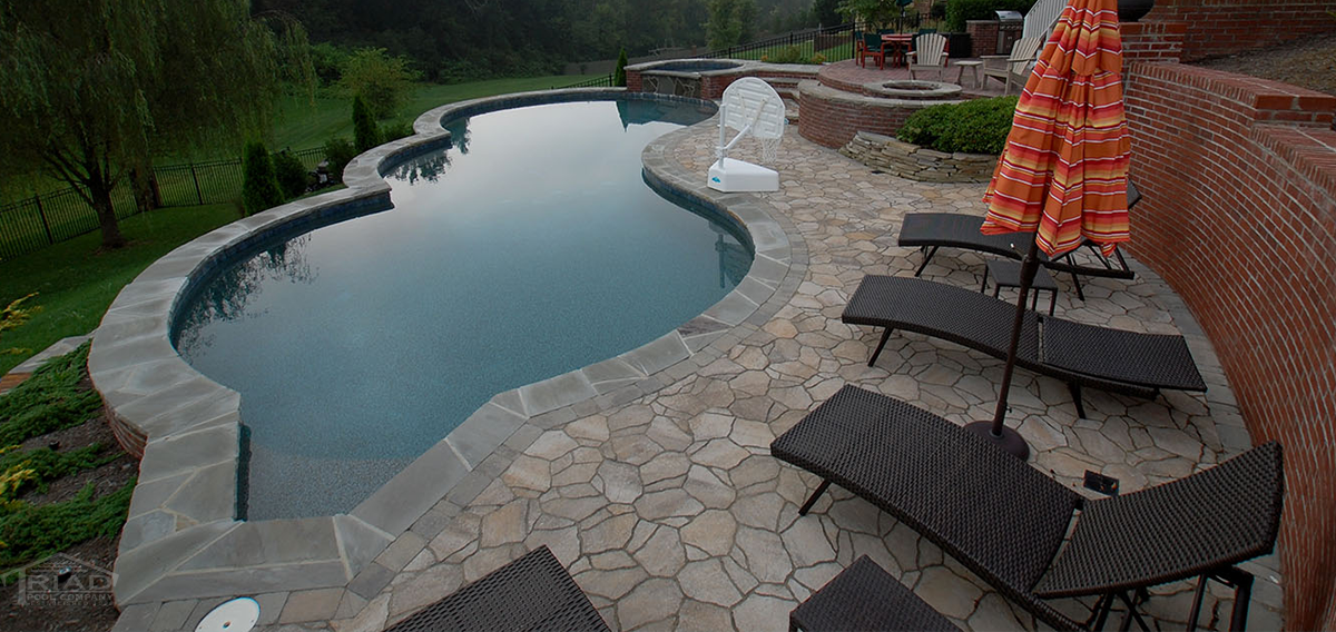 Triad poolscapes of knoxville custom luxurious swimming - University of bristol swimming pool ...